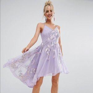 ASOS Embroidered Cami Strap Petite Midi Dress